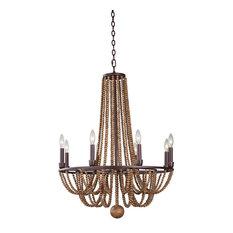 Kalco Lighting Beechwood 8-Light Chandelier, Royal Mahogany