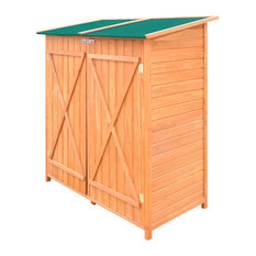 VidaXL Large Wooden Shed Garden Tool Storage Room