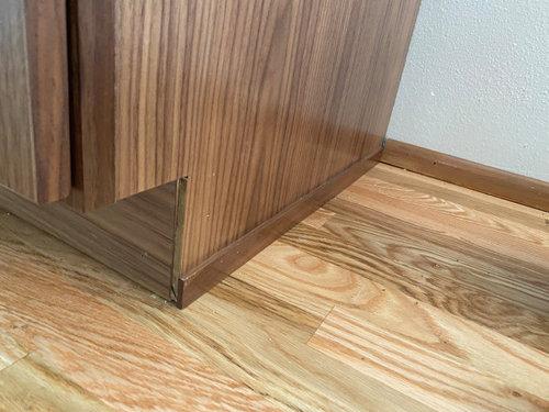 Kitchen cabinet trim help requested