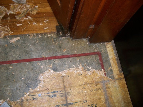 More Buried Treasure Old 1910 Lino Floor