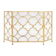 Brimfield & May - Metal Fireplace Screen - Fireplace Screens
