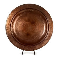 Imax Enticing Copper Plated Iron Charger with Stand 27   x 25   x 10