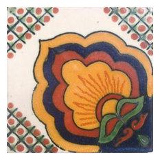 "4""x4"" Mexican Ceramic Handmade Tile #C066"