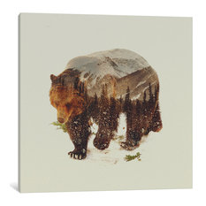 """Bear I"" by Andreas Lie, 18""x18""x.75"""