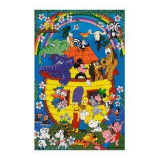 "Disney - Noa's Ark on Canvas by Juan Manuel  -  Size: 24""L x 36""W x 2""H."