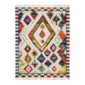 "Nourison Moroccan Casbah Ivory and Multicolor Area Rug, 7'10""x10'6"""