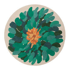 Surya - Surya Bombay BST530 Green/Blue Contemporary Area Rug, Round 8'x8' - Area Rugs