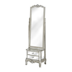 Argente Cheval Mirror With 2 Drawers