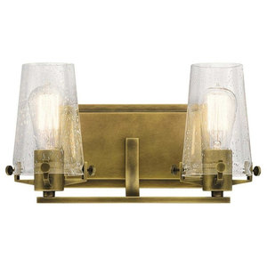 Alton Bath 2-Light, Natural Brass