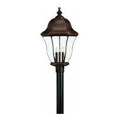 Most popular copper outdoor lamp post houzz for 2018 houzz hinkley lighting 4 light standard bulb outdoor post lamp copper bronze post lights aloadofball Choice Image