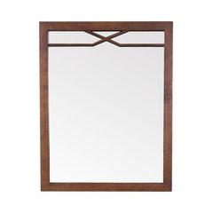 Framed Wall Mount Bathroom Vanity Mirror American Walnut 30 X24 Craftsman Mirrors