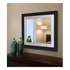 "Nyquist Nickel Silver Wall Mirror, 31.25""x41.25"""
