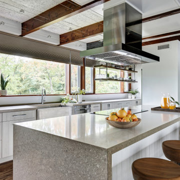 Mid-century Kitchen with a Modern Rustic Appeal