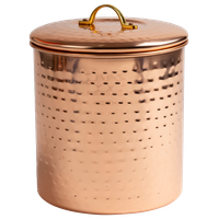 Nusteel Hammered Copper 1 QT Canister