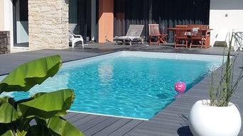 Extension maison avec piscine