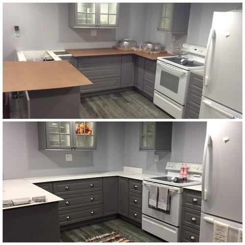 Pulls Installed On Ikea Basement Kitchen