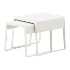 Cane-Line White Chill Out Nesting Tables