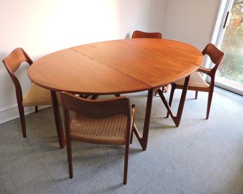 Kurt Ostervig Danish Teak Mid Century Modern Dining Table   Dining Tables