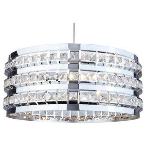 Charlize 3-Light Round Ceiling Light, Polished Chrome