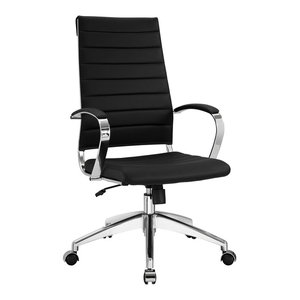 Jive Highback Faux Leather Office Chair, Black