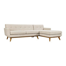 Griffon Right-Facing Sectional Sofa/Beige