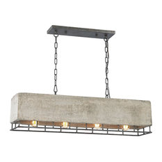 Brocca 4-Light Chandelier, Silverdust Iron