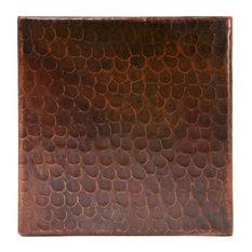 """6""""x6"""" Hammered Copper Tile, Single Tile"""