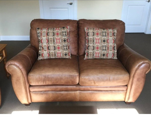Stupendous Used Leather Sofa Set Onthecornerstone Fun Painted Chair Ideas Images Onthecornerstoneorg