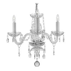 Crystal 3-Light Pendant Fixture Chandelier