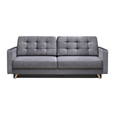 Meble Furniture Rugs Vegas Futon Sofa Bed Queen Sleeper With Storage Gray