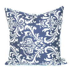 Majestic Home Goods   French Quarter Pillow, Navy Blue, 20x20   Outdoor  Cushions And