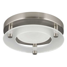 Progress Lighting Circular Flush Mount Brushed Nickel Flush Mount Ceiling Lighting