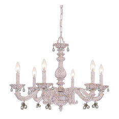 Crystorama 6-Light Antique White Chandelier