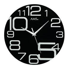 Sachi Quartz Wall Clock, Black