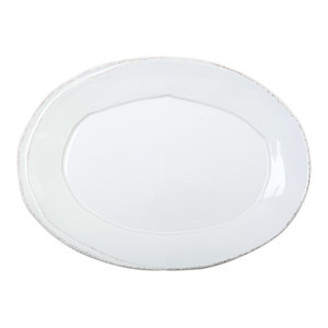 Vietri Mucca Small Oval Tray Campagna Collection Contemporary Serving Dishes And Platters By Silver Crystal Gallery