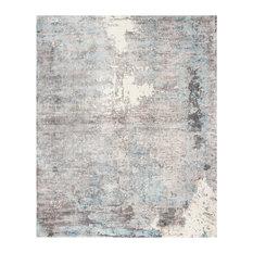 Studio Seven Hand Loomed Area Rug, MIR724E, Ivory/Blue,  9' X 12'