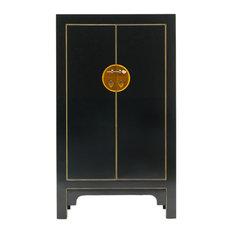 Qing Black and Gilt Cabinet, Medium