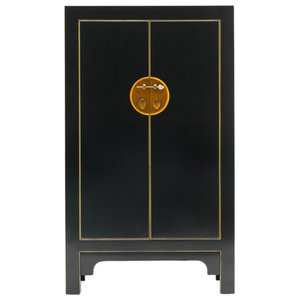 Qing Black and Gilt Cabinet, Medium