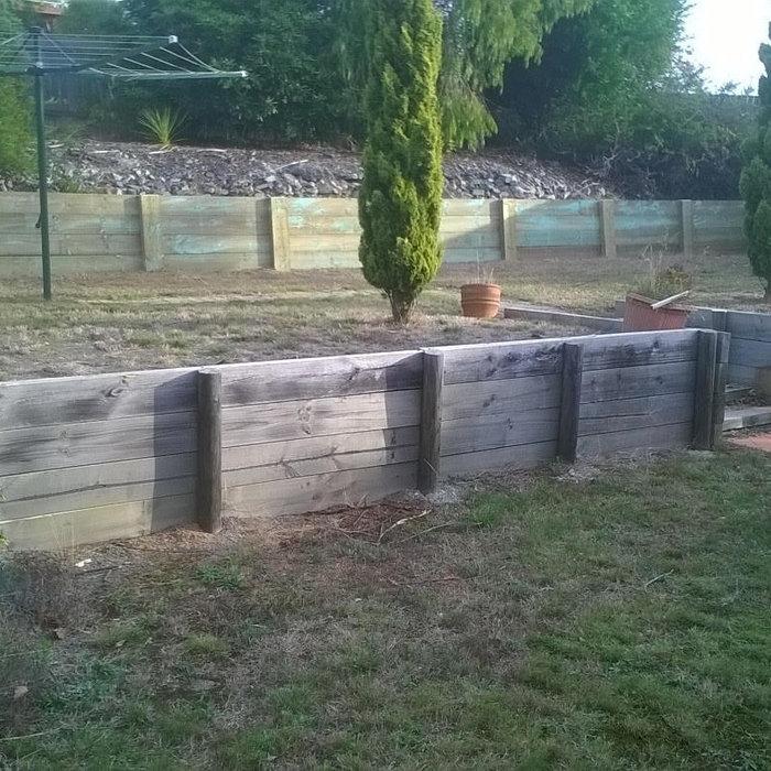 Timber Sleepers, Retaining Walls