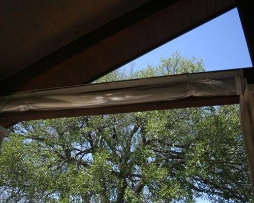 Clear Vinyl Patio Enclosure Weather Curtains Residential Pavilion Project