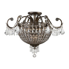 Crystorama Vanderbilt 9 Light Clear Hand Cut Semi-Flush