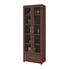 Display Closet in Nut Brown Finish