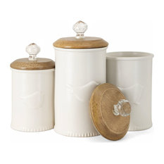 Trisha Yearwood Bluebird Ceramic Canisters, Set of 3