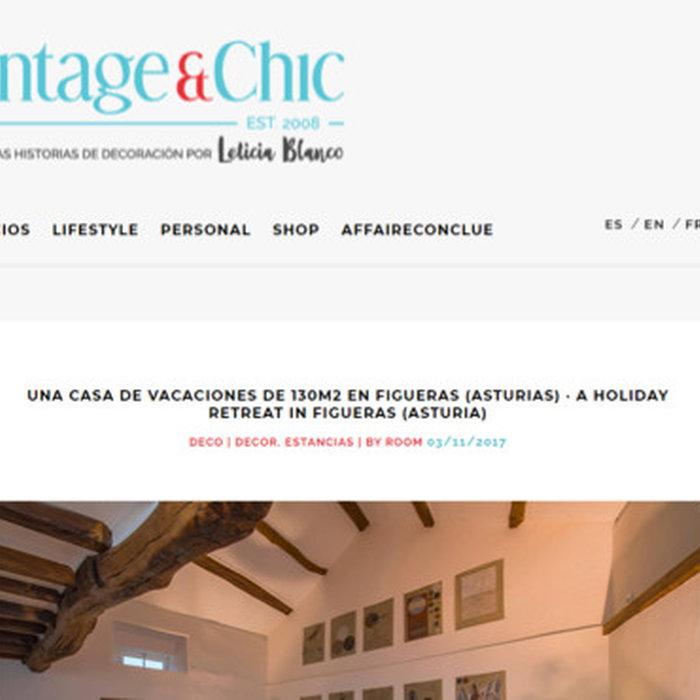 Casa de piedra rehabilitada en Vintage&Chic