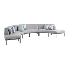 Tommy Bahama Home - Tommy Bahama Outdoor Del Mar 3-Piece Curved Sectional - Sectional  sc 1 st  Houzz : del mar sectional sofa - Sectionals, Sofas & Couches