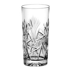 Pinwheel Lead Crystal Highball Glasses, Set of 6