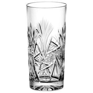 Pinwheel Lead Crystal Highball Glasses, Set of 6