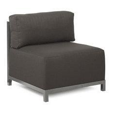 Howard Elliott Axis Chair With Cover, Titanium Frame, Seascape Charcoal