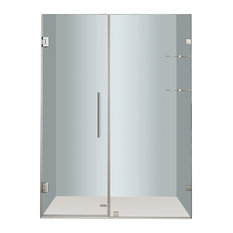 "Aston Nautis GS Frameless Hinged Shower Door, Chrome, 59""x72"""