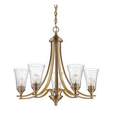 """Millennium Lighting 1465-HBZ Natalie 5 Light 27-3/4"""" Chandelier With Glass"""